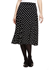 Classic Spotted Long Flippy Skirt