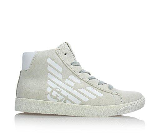 ARMANI - Sneaker beige stringata, chiusura laterale a zip, Bambino, ragazzo e ragazzi-31