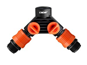 Claber 8599 Y Hose Connector with Shut Off