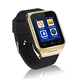 Flylinktech S8 WIFI Smart Watch GPS Dual Core CPU Android 4.4 With 5.0 MP Camera Built-in 8GB Memory Card (Gold)