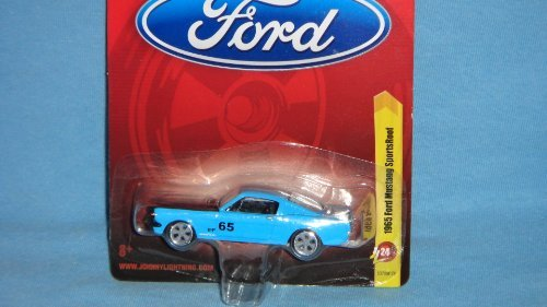 JOHNNY LIGHTNING R24 1:64 SCALE BLUE 1965 FORD MUSTANG SPORTSROOF DIE-CAST COLLECTIBLE