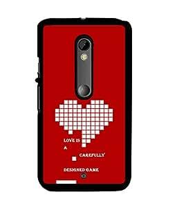 Fuson 2D Printed Quotes Designer back case cover for Motorola Moto X Play - D4553