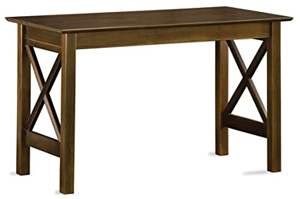 Solid Wood Lexington Collection Computer Desk in Antique Walnut