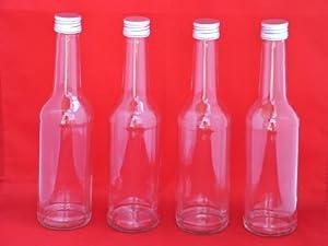6 st ck 1000ml geradhalsflasche saftflaschen leere glasflaschen mit schraubverschluss zum. Black Bedroom Furniture Sets. Home Design Ideas