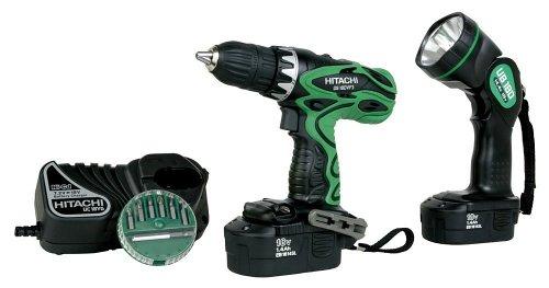 Hitachi DS18DVF3 18-Volt Ni-Cad 1/2-Inch Cordless Drill/Driver Kit