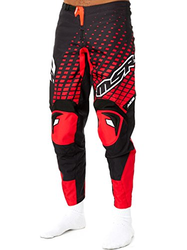 Pantaloni Motocross Msr 2016 Axxis Nero-Rosso (30 Vita = Eu 44 , Rosso)