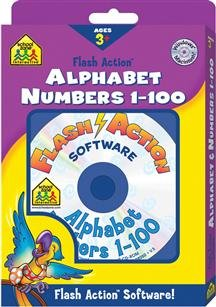 School Zone Flash Action Alphabet/Numbers 1-100 (PC & Mac)