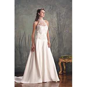 Eden Bridals Classics #8016 White Size 14 Bridal Gown Wedding Dress
