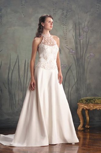 Eden Bridals Classics #8016 White Size 14 Bridal