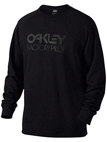 Oakley DWR Factory Pilot Crew Felpa Uomo, Uomo, Dwr Factory Pilot Crew, nero, M
