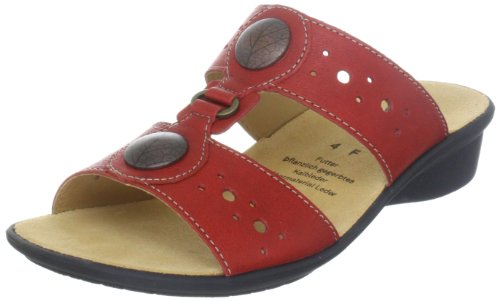 Ganter Selina, Weite F 3-203157-41000, Damen Clogs & Pantoletten, Rot (rosso 4100), EU 40.5 (UK 7)