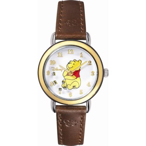 MC0061D Winnie the Pooh Rotating Disc Leather Strap Watch: Disney