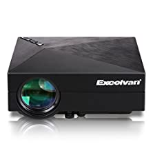 buy Excelvan Multimedia Mini Led Projector For Iphone Ipad Android Phone Home Theatre Cinema Projector 800*480 With Usb Hdmi Av Vga Sd Input Black