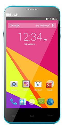 BLU Dash 5.0+ 1.3 GHz Quad Core 4.4KK HSPA+ with 5MP Camera Unlocked Smartphone - Retail Packaging - Blue