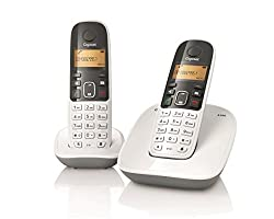 Gigaset A490 Duo Cordless Phone (White)
