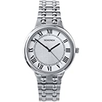 Sekonda Gents White Dial Watch With Stainless Steel Bracelet And Roman Numerals 3277