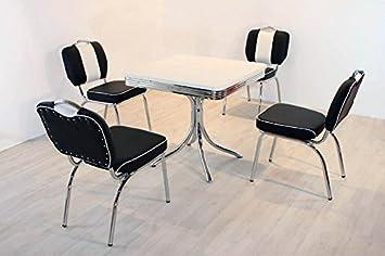 Bistrogruppe American Diner Paul King7 5tlg in schwarz weiß