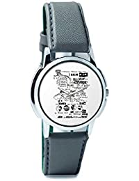 BigOwl Psychedelic Reality Painting Analog Men's Wrist Watch 2114874526-RS1-W-GRY