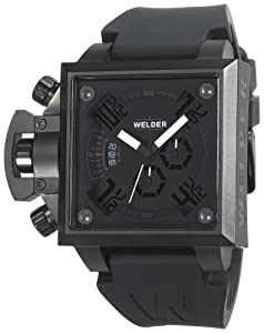 Welder Men's K25-4304 K25 Chronograph Black Ion-Plated Stainless Steel Square Watch