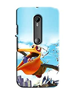 Blue Throat Birds Flying Printed Designer Back Cover/Case For Motorola Moto G3