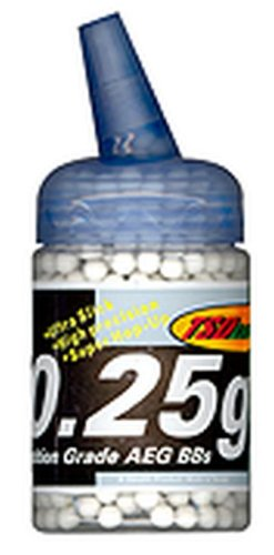 TSD Tactical 1,000 ct. Feeder Bottle Plastic White Airsoft BBs (6mm, 0.25g)