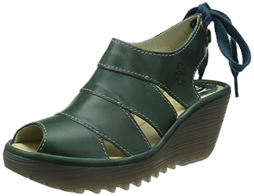 Fly London Yown, Zoccoli donna Blu Blue (Petrol) 39
