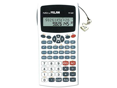 Milan 159110WBL - Calculadora científica con pantalla LCD de 2 líneas