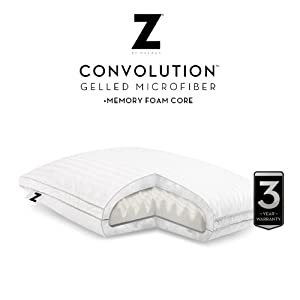 Z by Malouf Convolution Gelled Microfiber with Convoluted Memory Foam Pillow, KING