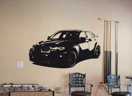 Wall Mural Vinyl Sticker Car BMW X6 Sport Power SUV 019