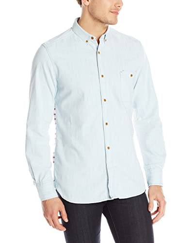 French Connection Men's Real Indigo Long Sleeve Shirt