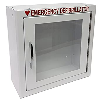 "First Voice TS147SM AED Basic Wall Standard Cabinet, 13.5"" W x 13"" H x 7"" D"