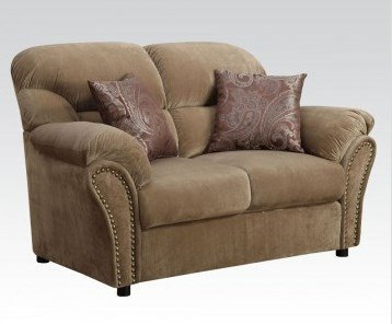 Patricia Loveseat in Light Brown by Acme Furniture