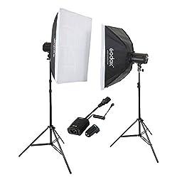 Godox Mini Pioneer 400W (2X 200W) 60x90cm Softbox Studio Flash Strobe Kit 110V
