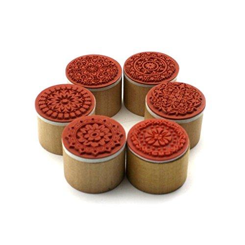 gearmaxr-forma-surtido-de-alta-calidad-de-floral-vintage-style-madera-redondo-sello-de-goma