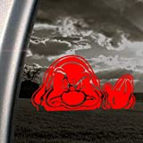 GRUMPY SNOW WHITE 7 Red Decal DISNEY Truck Window Red Sticker