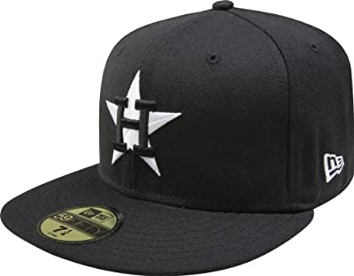 MLB Houston Astros Cooperstown Black with White 59FIFTY Fitted Cap