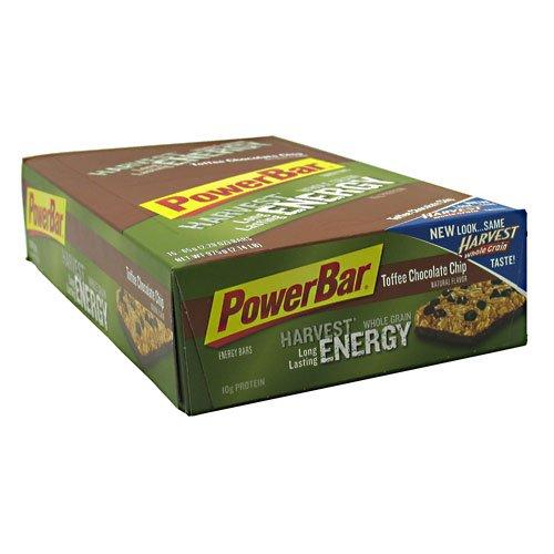Powerbar Whole Grain Nutrition Bar Toffee Chocolate Chip 15 - 2.29 Oz (65 G) Bars [2.14 Lb (975 G)]