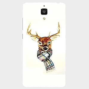 Back cover for Xiaomi Mi4 Winter Deer 2