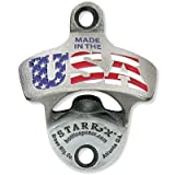 MADE IN THE USA Flag Zinc Aluminum Starr X Wall Mount Bottle Opener US Made NEW!