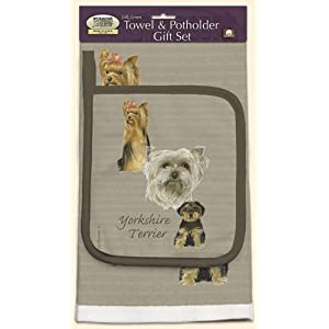 Yorkshire Terrier Dish Towel and Potholder