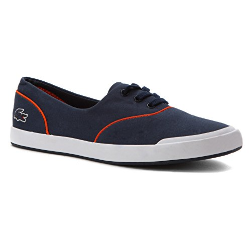 Lacoste Women's Lancelle Lace 3 Eye 216 2 Navy/Orange 9.5 M