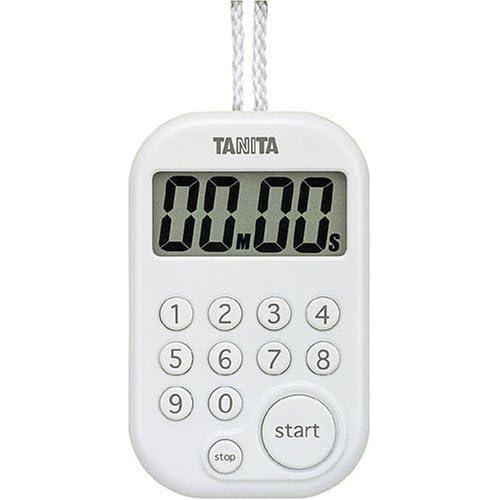 TANITA デジタルタイマー100分計 ホワイト TD-379-WH