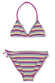 Halterneck Striped Bikini