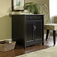 Sauder Edge Water Utility Cart/Free Standing Cabinet (Estate Black)