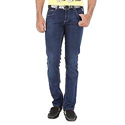 Trigger Men's Slim Jeans (TJ059_Dark Blue_38)