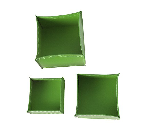 KOME 531: Set svuota tasche in cuoio rigenerato composto da 3 pezzi, colore Verde Oliva.