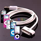 TECHGEAR® HIGH QUALITY OEM USB DATA CABLE FOR APPLE IPOD NANO 1GB, 2GB, 4GB, 8GB AND 16GB - WORKS FOR ALL GENERATIONS OF IPOD NANO (NOT 2012 7th GEN), INCLUDING COLOURS, VIDEO, CHROMATIC AND LATEST CAMERA MODEL , 1ST GEN, 2ND GEN, 3RD GEN, 4TH GEN, 5TH