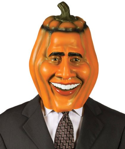 Adult Obama Pumpkin Head Halloween Costume Mask