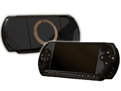 Sony Play Station Portable 1000 (Psp) Skin New Black Chrome Mirror System Skins Faceplate Decal Mod