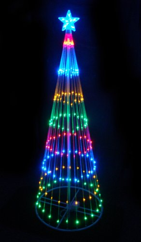 4' Multi-Color LED Light Show Cone Christmas